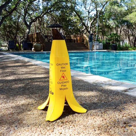 the banana cone a caution wet floor sign designed to