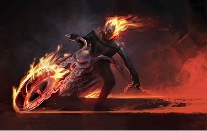 Rider Ghost Marvel Motorcycle Wallpapers Spirit Comics