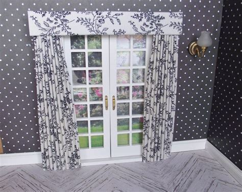 curtains and drapes 1 12 miniature doll house curtains drapes with