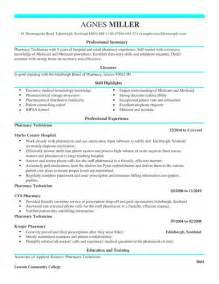 retail pharmacy technician resume exle pharmacy technician cv exle for healthcare livecareer