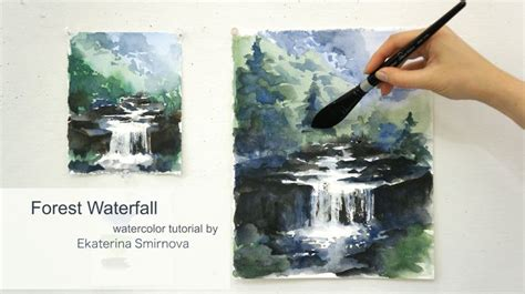 Follow Me While Painting A Summer Waterfall! We Will Paint