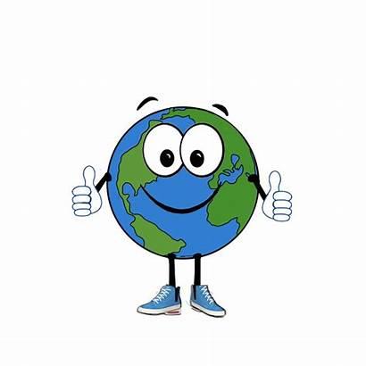 Globe Cartoon Clipart Smiley Earth Clip Globes