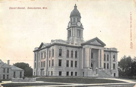 darlington wisconsin court house street view antique