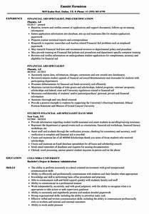 Relevant Experience Resume Samples Financial Aid Specialist Resume Samples Velvet Jobs
