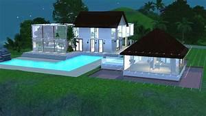 sims 3 construction d39une maison moderne et tropicale With ordinary plan de belle maison 4 maison contemporaine modele