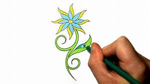How to Draw a Cool Simple Daisy Flower Tattoo Design - YouTube