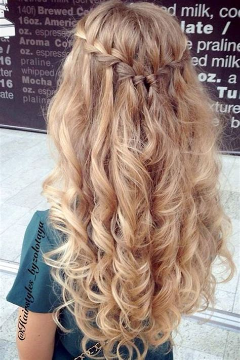 curly homecoming hairstyles ideas  pinterest