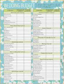 Budget Wedding Checklist Printable