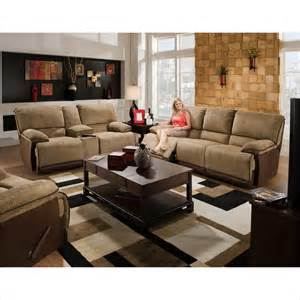 catnapper clayton reclining 3 piece sofa set in camel and