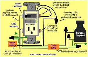 Wiring Diagram Gfci Outlet With Switch To A Garbage Disposal