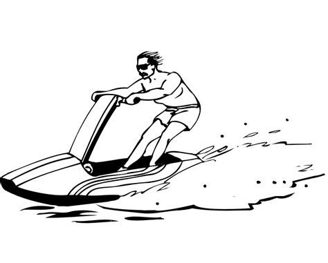 How To Draw A Boat Race by Jet Ski Clip Cliparts Co