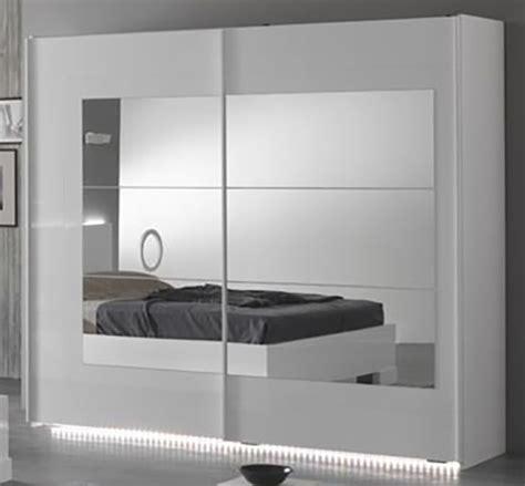 armoire de bureaux armoire 2 portes coulissantes ancona laque blanc cacl 200