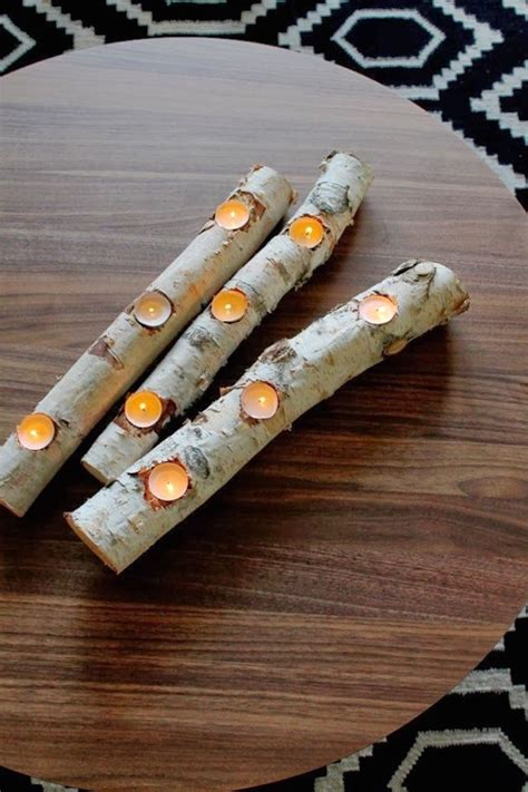diy candle holders 8 easy diy wood candle holders for some rustic warmth this