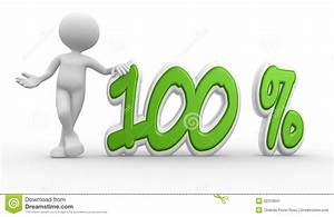 3d Man And Percent Sign. 100% Stock Illustration ...