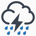 Weather Icon Storm Thunderstorm Icons Rain Cloud