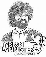 Tyrion Lannister Doubting sketch template