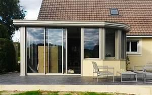 Modele De Veranda : r alisation mod le v randa aluminum grise saint gabriel ~ Premium-room.com Idées de Décoration