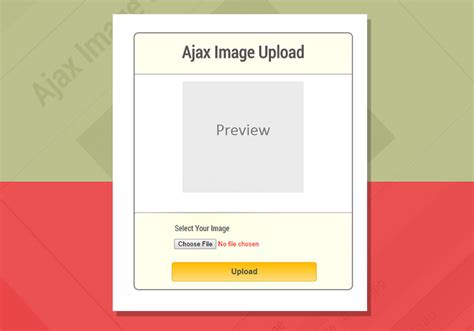 Ajax Image Upload Using Php And Jquery