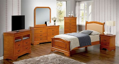 G3160 Youth Upholstered Headboard Bedroom Set Kids And