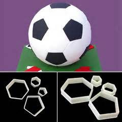 soccer hexagon pentagon sugarcraft cutters