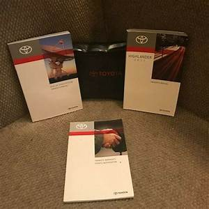 2011 Toyota Highlander Owners Manual With Navigation