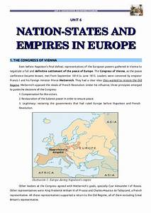 Unit 6: Nation states and empires in Europe I