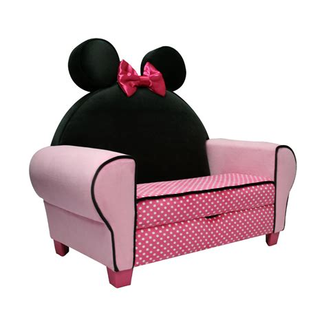 chaise minnie delta children disney minnie mouse upholstered icon chaise
