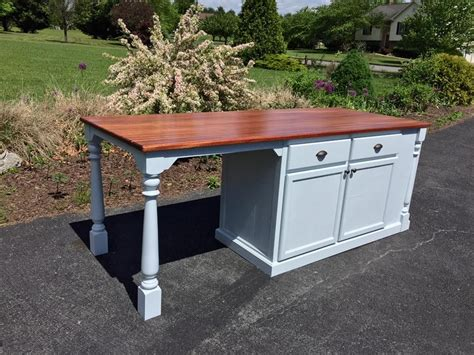 custom made kitchen island with large seating area by