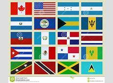 North America countries stock illustration Illustration