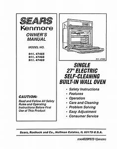 Sears Oven 911 47465 User Guide