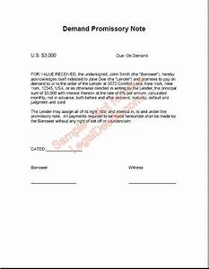 demand promissory note sample image With promissory letter template