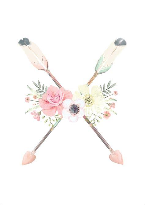 arrows flowers print monkey