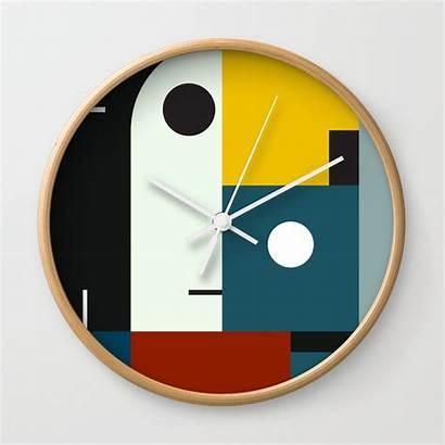 Clock Bauhaus Age Society6