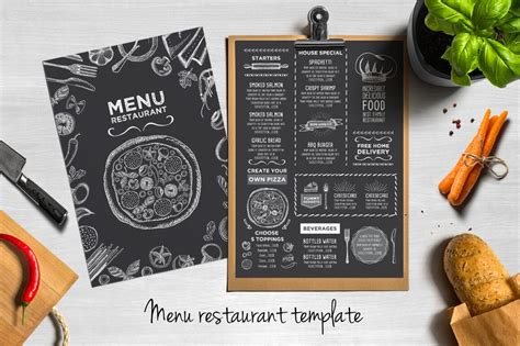 food drink menu templates design shack
