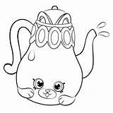 Coloring Teapot Shopkins Season Colorir Shopkin Tea Pot Desenhos Petkins Dibujos Dos Printable Cartoon Tetera Linda Polly Desenho Colorear Tomato sketch template