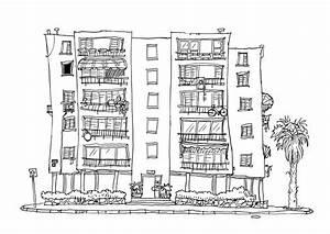 Amazing Black And White Apartment Building Clip Art ...