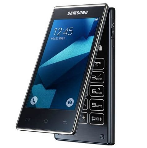 flip android phone samsung g9198 dual screen android flip phone announced