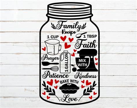 kitchenfamily recipe svgfamily recipe bundlekitchen wall decalrustic farmhouse