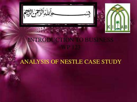 study analysis of nestle cover letter for internship