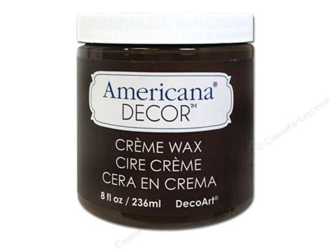 Americana Decor Creme Wax 8 Oz Clear by Decoart Americana Decor Creme Wax 8 Oz Brown