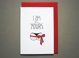 Funny anniversary card boyfriend naughty love card husband