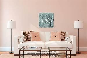 Tableau Salon Design : tableau design gris pas cher oeuvre d 39 art moderne ch ssis en bois pour une d co stylis e ~ Teatrodelosmanantiales.com Idées de Décoration
