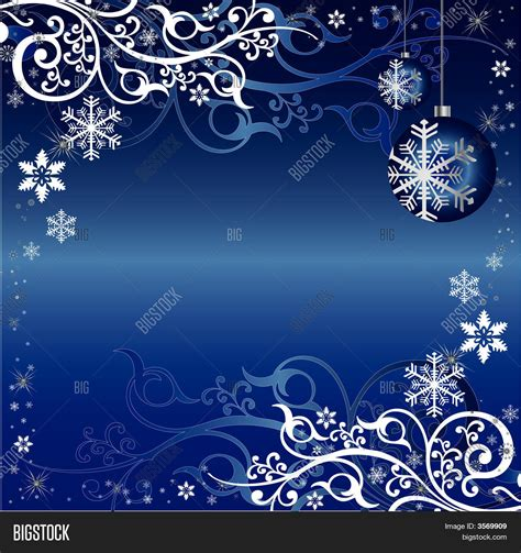 blue white christmas themed vector photo bigstock