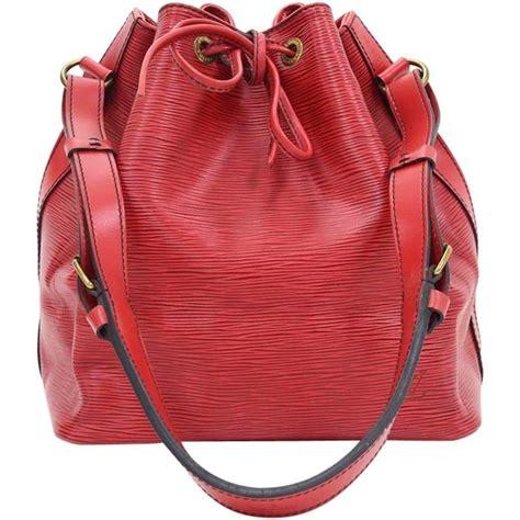 louis vuitton red epi leather vintage petit noe