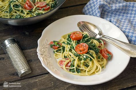 cuisine de norbert spaghetti mit spinat mascarpone madame cuisine