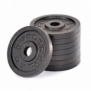 Golds Gym 8 X 1 25kg Standard Cast Iron Weight Plates