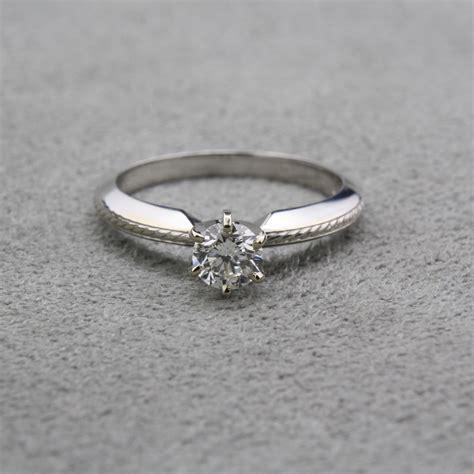 pre owned knife edge diamond engagement ring