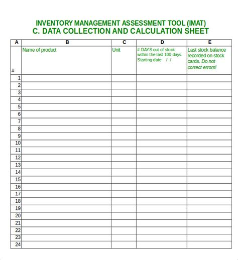 Excel Inventory Template 16 Free Excel Pdf Documents