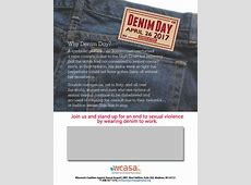 Events Sexual Assault Awareness Month Denim Day WCASA