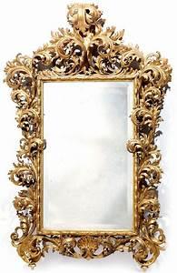 Miroir Doré Ancien : rare miroir en bois dor travail italien probablement florence fin du xviie si cle alain r ~ Teatrodelosmanantiales.com Idées de Décoration